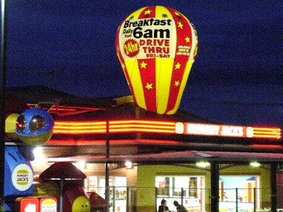 Rooftop Balloon Inflatable Hungry Jacks Promotion