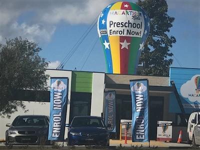 Rooftop Inflatable Pre school enrol promotion