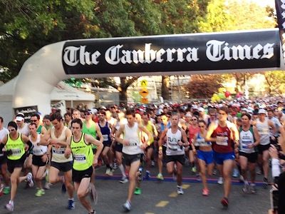 Canberra Times Inflatable Start Line Gantry