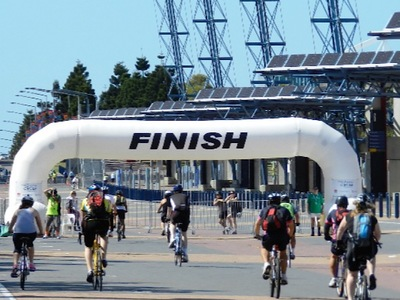 Spring Cycle Inflatable Finish Arch