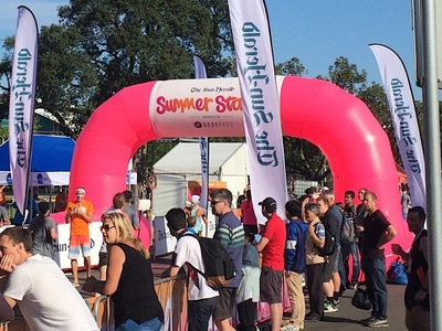 Summer starter Inflatable Finish Line