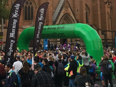Sydney Half Marathon Inflatable Start Arch Gantry