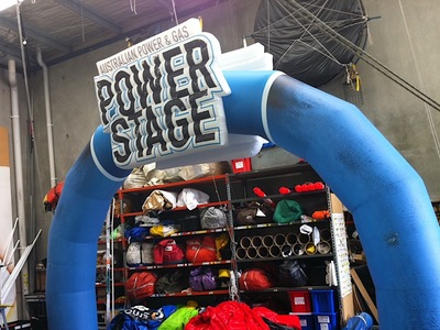 Inflatable Power Stage Arch