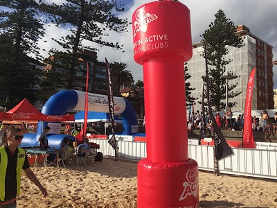 Virgin Active Inflatable Beach Barbell