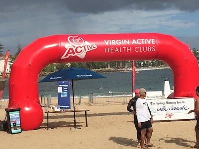 Virgin Active Inflatable Start Arch