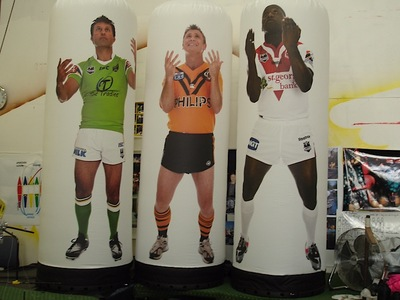 Rugby League Promotional Inflatable Pillars
