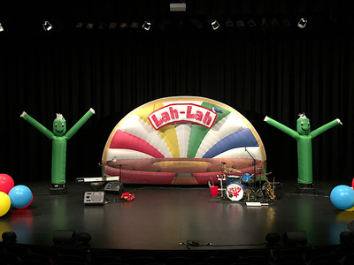 Lah Lah Inflatable stage backdrop