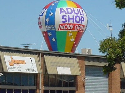 Adult Shop New Store Rooftop Inflatable Promo