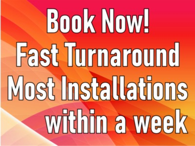 Book Now Fast Turnaround