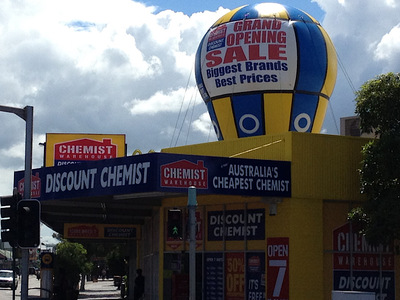 Chemist Rooftop Inflatable Grand Opening Sale Promotion