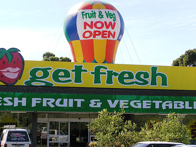 Fruit and Veg New Store Opening Rooftop Inflatable Promotion