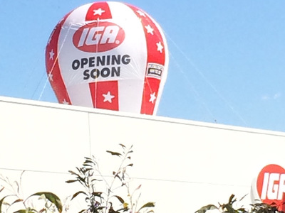 IGA Foodstore Opening Soon Rooftop Inflatable Promotion