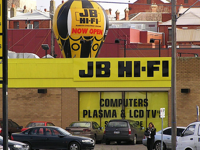JB Hi-fi New Store Opening Rooftop Inflatable