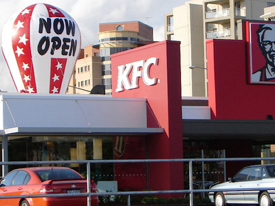 KFC Rooftop Inflatable Re-Opening Promotion Example