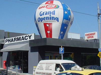 Supa Iga Grand Opening Sydney Melbourne Brisbane Rooftop Inflatable Promotions