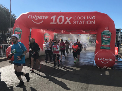 Custom Colgate Misting tunnel Running Event