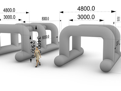 Inflatable Concept Misting Station Gantry Image